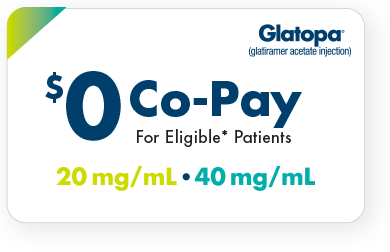 Copaxone generic Glatopa (glatiramer acetate injection) copay card